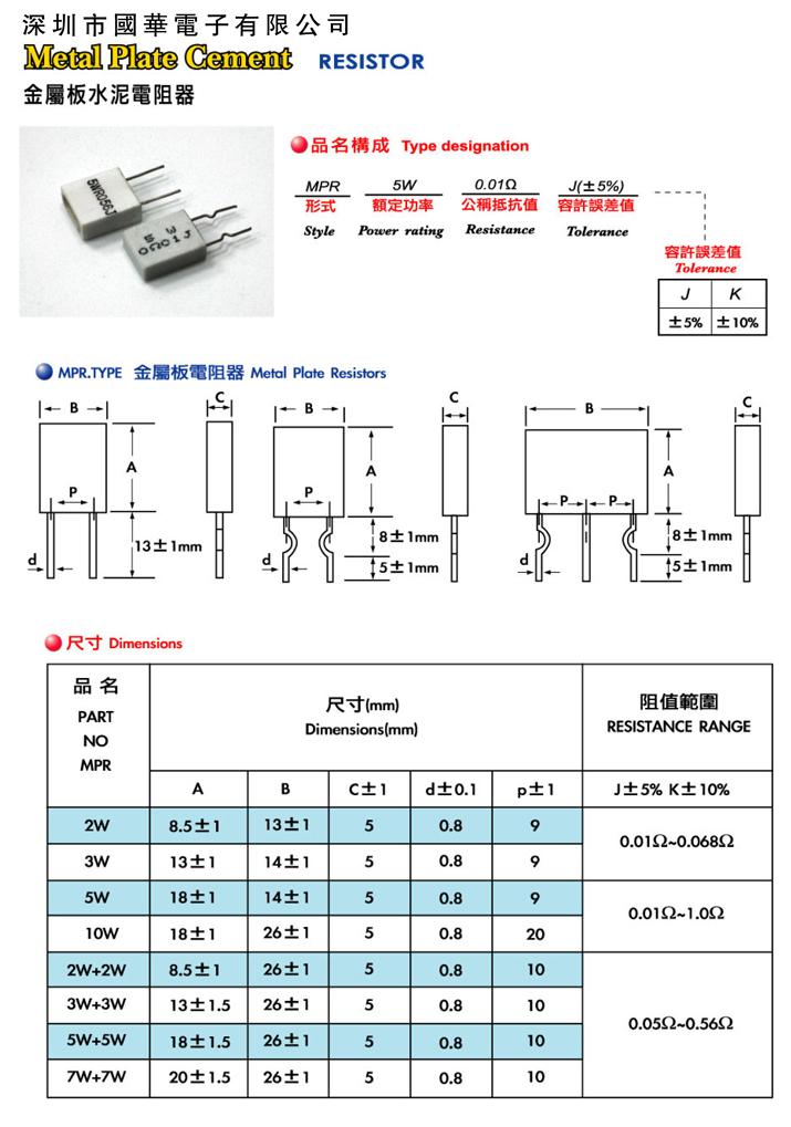 金属板水泥电阻-1